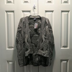 Urban Outfitters Sparkle and Fade gray cardigan